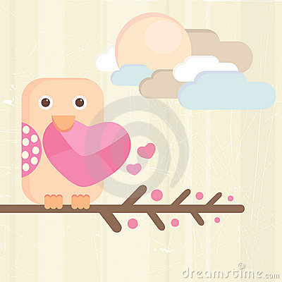 Bird and love letter