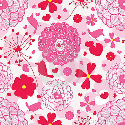 Bird And Love Pattern_eps