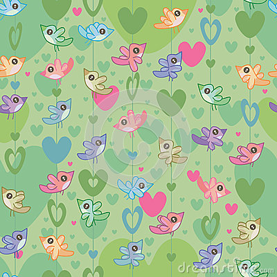 Bird Love Seamless Pattern_eps
