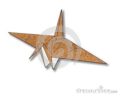 Bird made from paper cut