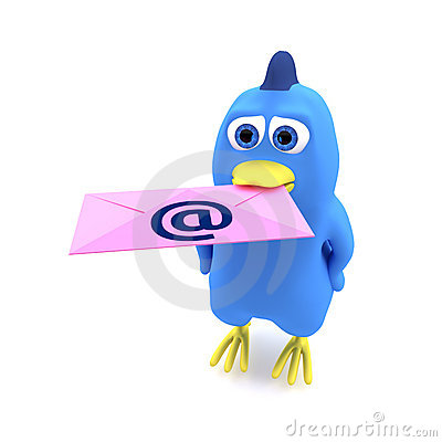 Bird With Mail