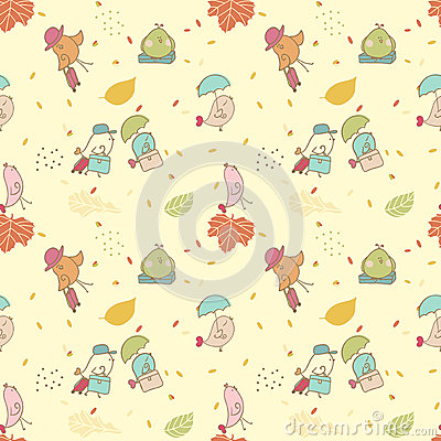 Bird migration, seamless pattern