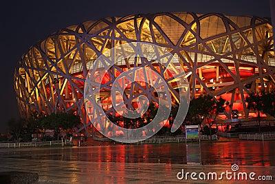 Bird nest (The Beijing National Stadium) Editorial Photo