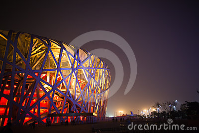 BIRD NEST(BEIJING NATIONAL STADIUM) Editorial Stock Image
