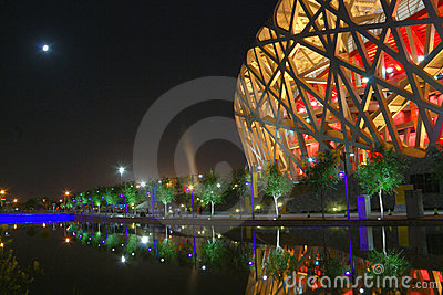 Bird nest(The Beijing National Stadium) Editorial Stock Image
