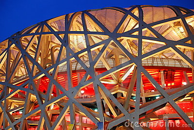 Bird nest(The Beijing National Stadium) Editorial Image