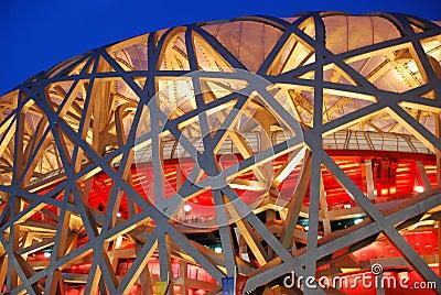 Bird nest(The Beijing National Stadium) Editorial Image