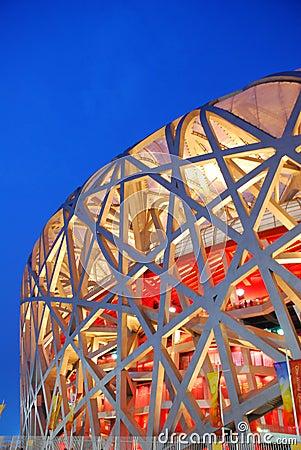 Bird nest(Beijing National Stadium) Editorial Stock Photo