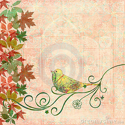 Free Bird On Swirls Stock Photo - 2895940