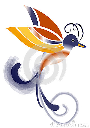 Exotic Bird of paradise - Blue and Orange