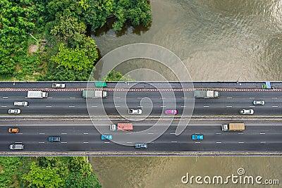 Bird s eye view of bridge