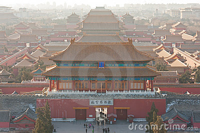 Bird s-eye view of the Forbidden City