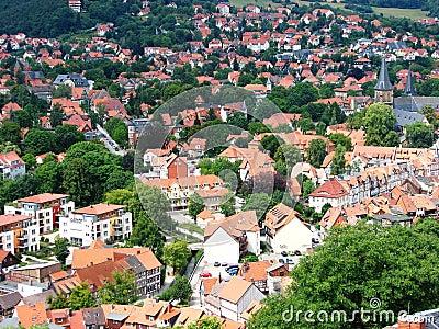 Bird s eye view of Wernigerode, Germany