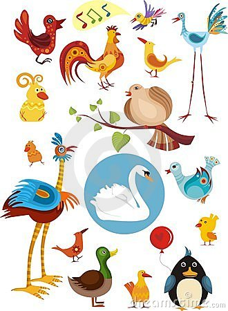 Free Bird Set Stock Photos - 12304673
