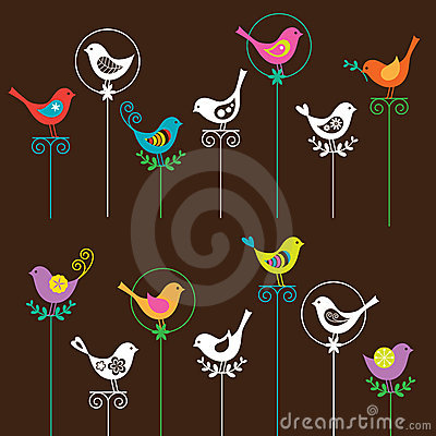 Free Bird Set Stock Photography - 14222212