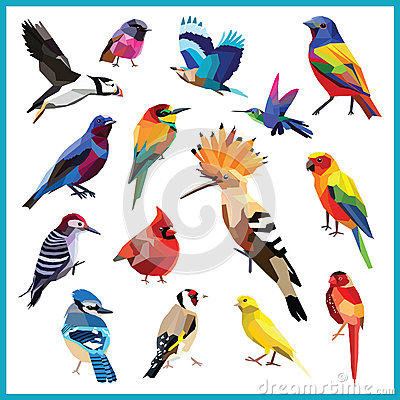 Free Bird Set Royalty Free Stock Photo - 56789045