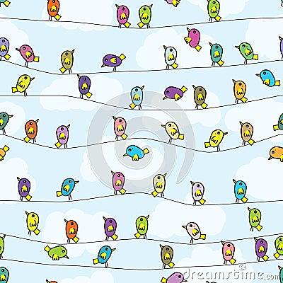 Free Bird Stand Seamless Pattern Stock Photography - 46518062