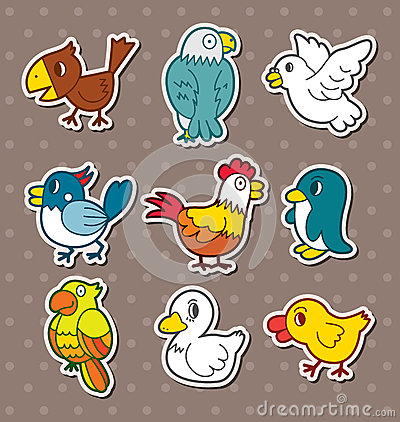 Free Bird Stickers Royalty Free Stock Photo - 27375935