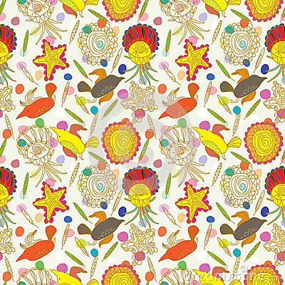 Bird Stone Seamless Pattern_eps