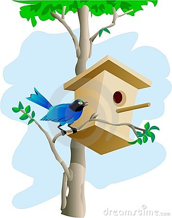 Bird and tree house