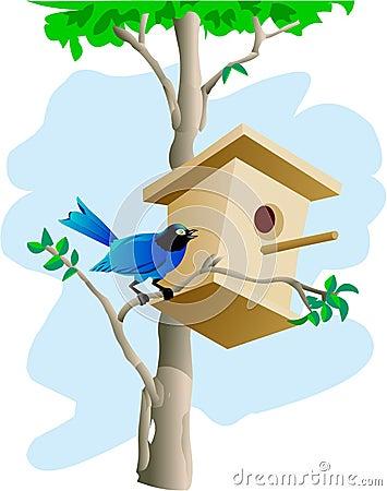 Bird and tree house
