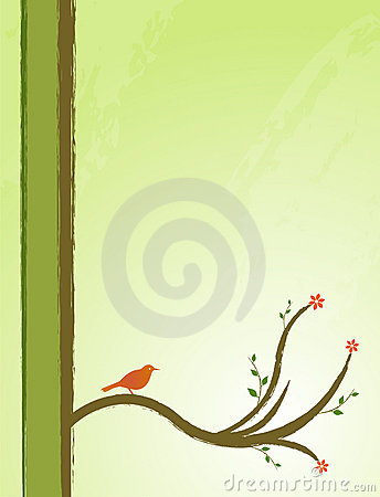 Bird in a tree illustration