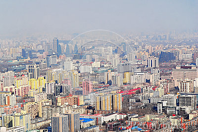 Bird view of Beijing