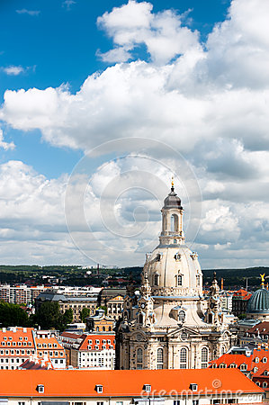 Bird view of Frauenkirche