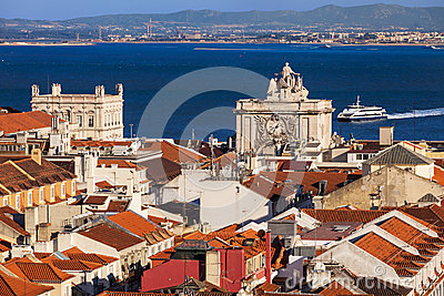 Bird view of Lisboa downtown