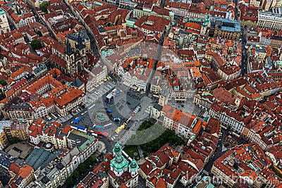 Bird View Of Old Town Square Stock Photos Image 35980123