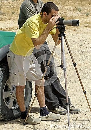 Bird watcher sede boker desert