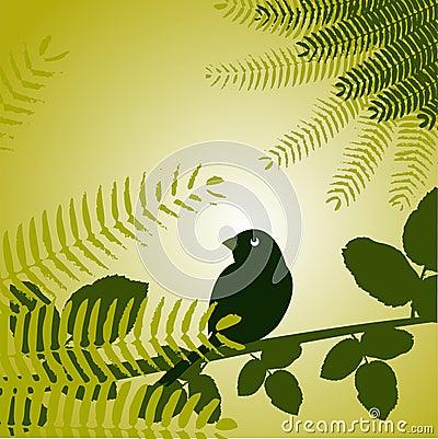 Free Bird With Plants Royalty Free Stock Photos - 15419788