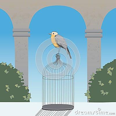 Birdcage in the Garden