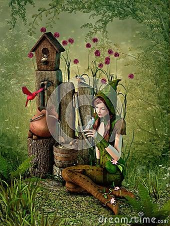 Free Birdhouse, 3d CG Stock Image - 39792631