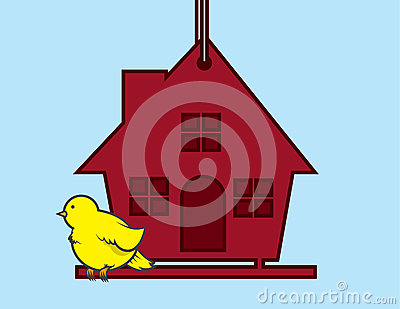 Birdhouse Bird