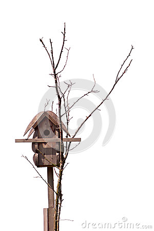 Birdhouse isolated white