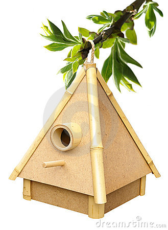 Free Birdhouse On Sprig Royalty Free Stock Photos - 19609708
