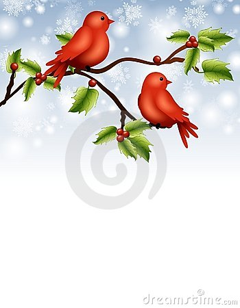 Birds on Branch Border
