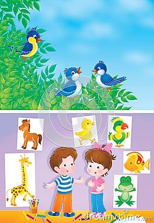Birds and children