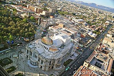 Bird´s eye View of Bellas Artes, Mexico City