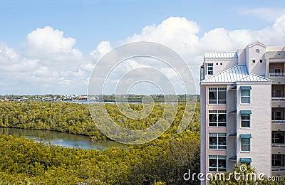 Birds eye view of bonita springs florida