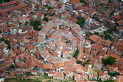 Birds eye view city