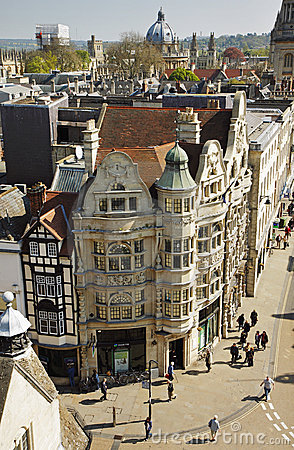 Birds Eye view of the City of Oxford in England Editorial Photography