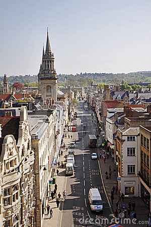 Birds Eye view of the City of Oxford in England Editorial Image