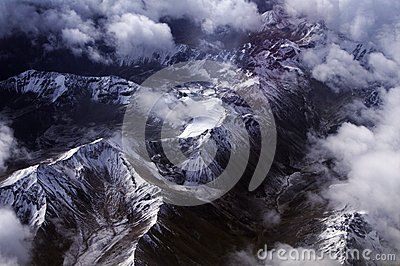 Birds eye view of the Himalayas