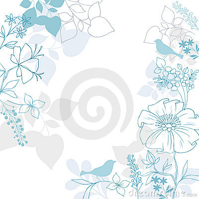 Birds Floral Background Vector Design