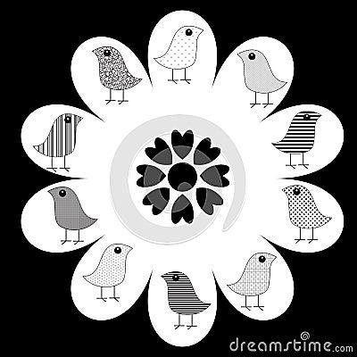 Birds on Flower