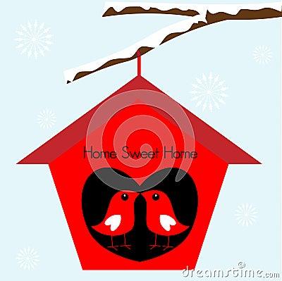 Free Birds Home Sweet Home Birdhouse Stock Image - 14507561
