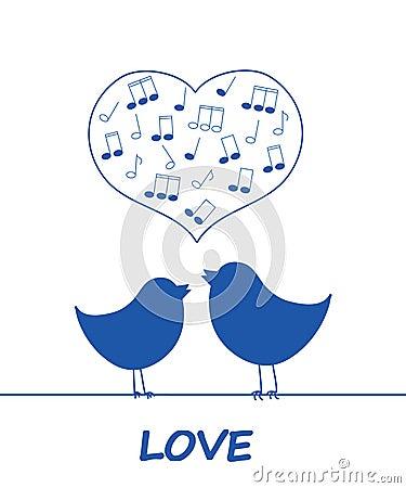 Birds in love.
