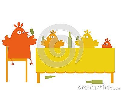 Birds  party